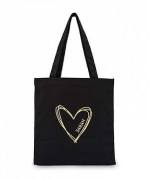 Black Canvas Bridal Party Tote Bag