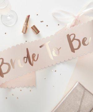 Bride To Be Paper Sash