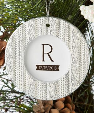 Cable Knit Ornament Place Card Holder