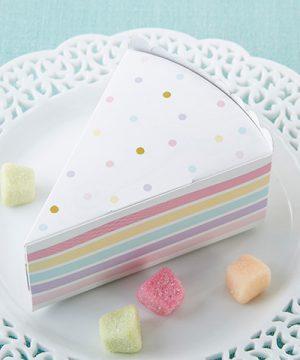 Cake Slice Favor Box (Set of 12)