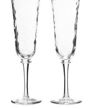Carine Set of Two Toasting Flute Set