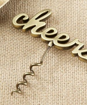 Cheers Antique Gold Corkscrew