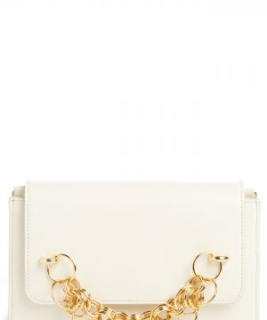 Chloe Drew Bijoux Leather Crossbody Bag - White