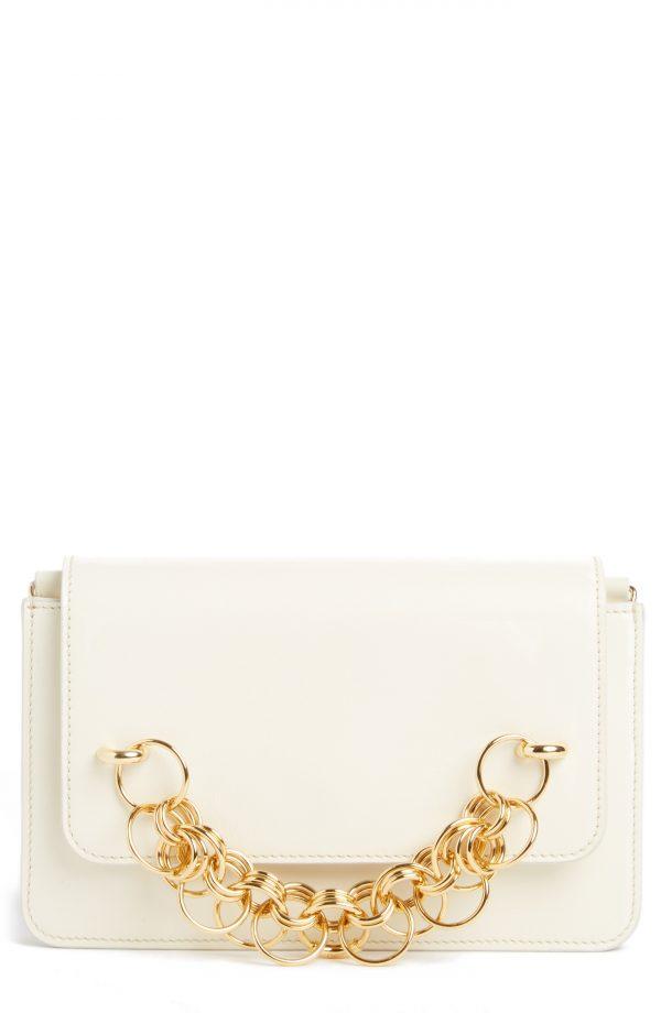 Chloe Drew Bijoux Leather Crossbody Bag - White