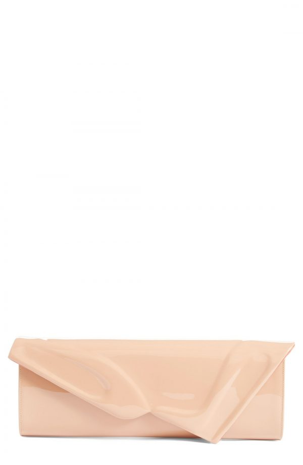 Christian Louboutin So Kate Patent Leather Clutch - Beige