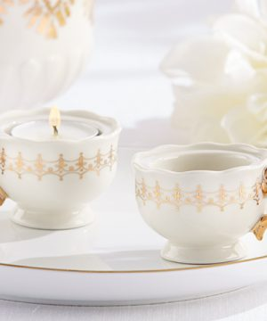 Classic Gold Teacups Tea Light Holder (Set of 4)