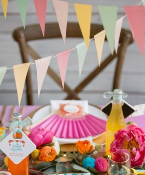 Colorful Vellum Pennant Banner