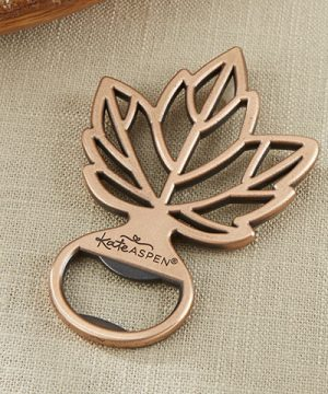 Copper Leaf Bottle Opener