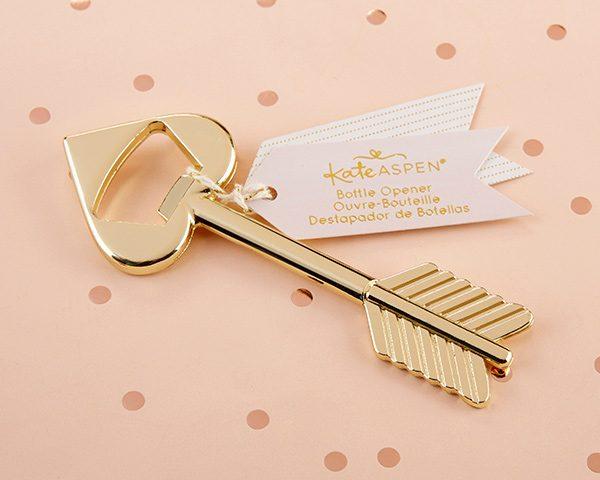 Cupid's Arrow Gold Bottle Opener