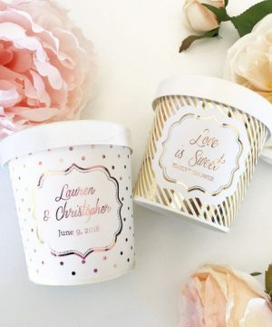 Custom Metallic Foil Ice Cream Containers
