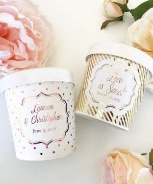 Custom Metallic Foil Ice Cream Containers