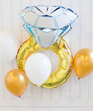 Diamond Ring Balloon Decor Kit