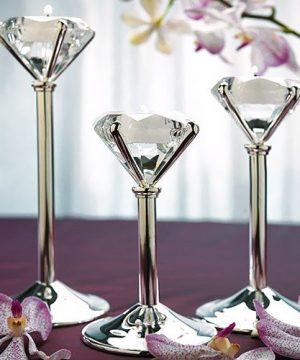 Diamond Shaped Tea Light Holders