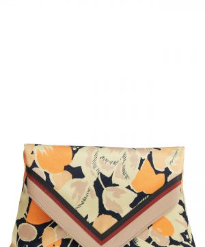 Dries Van Noten Floral Print Envelope Clutch -
