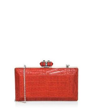 East/West Coffered Rectangle Clutch
