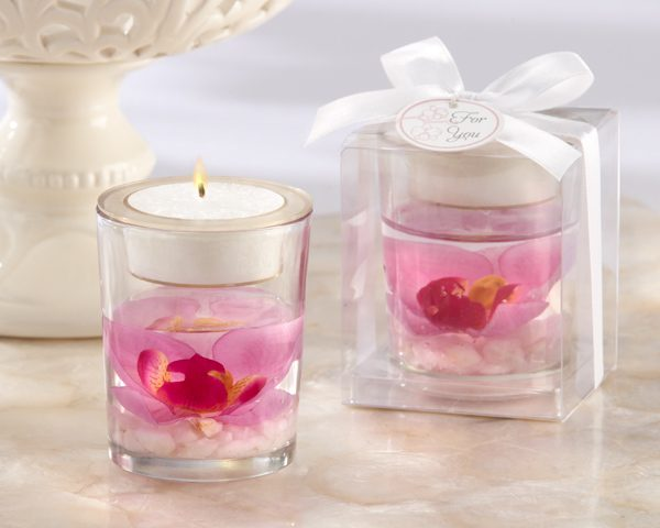 """Elegant Orchid"" Tea Light Holder"