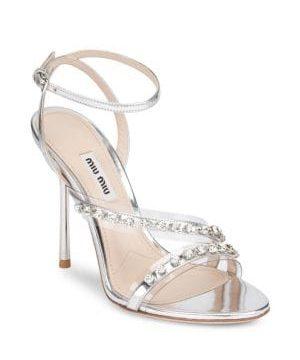 Embellished High Heel Sandals