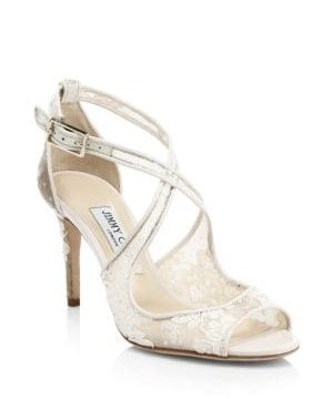 Emily Lace Crisscross Sandals