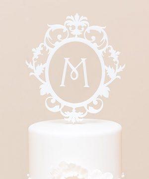 Floating Monogram Cake Topper