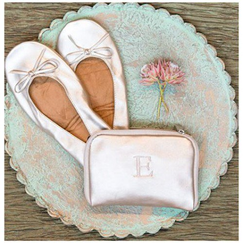 Folding Ballet Flats with Personalized Carrying Case