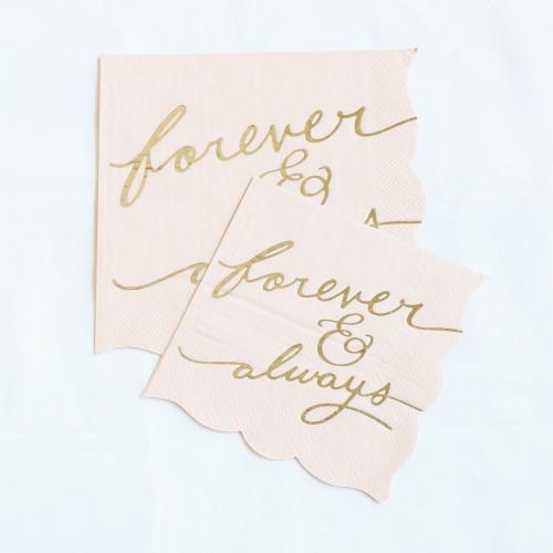 Forever & Always Blush Napkins