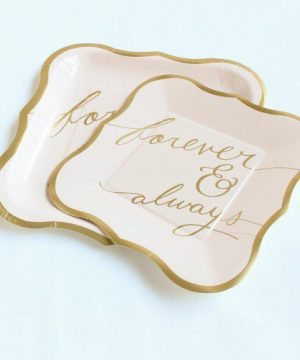 Forever & Always Blush Paper Plates