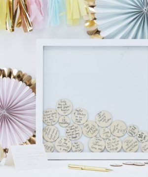 Framed Circle Drop Guest Book