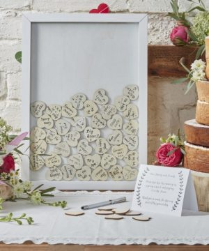 Framed Heart Drop Guest Book
