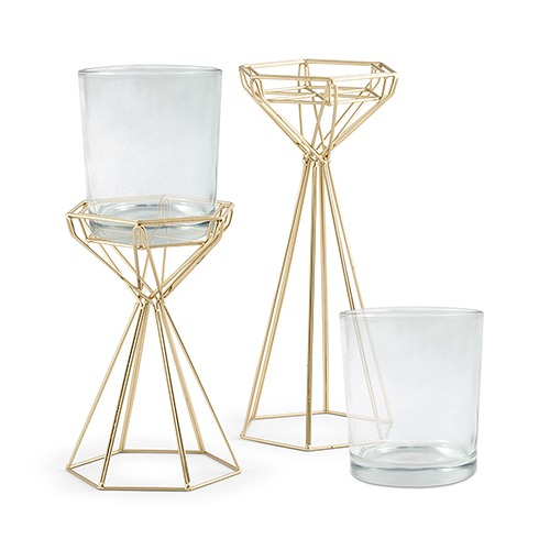 Geo Candle Stand Set