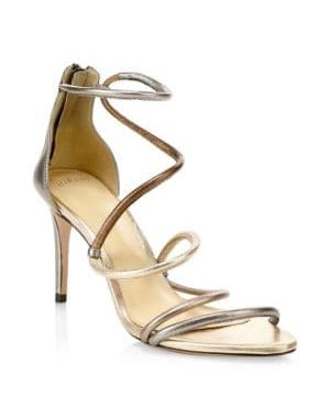 Gianny Metallic Stiletto Sandals