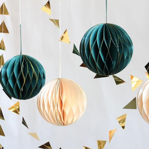 Glitter Honeycomb Ball Decoration