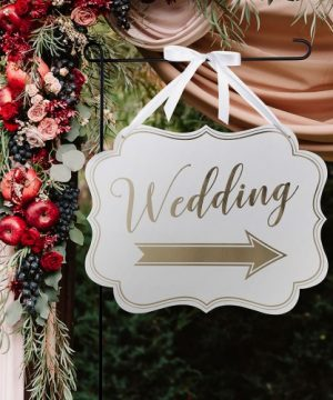 Gold Arrow Wedding Sign