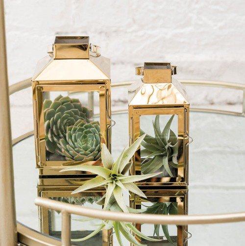 Gold Decorative Candle Lantern