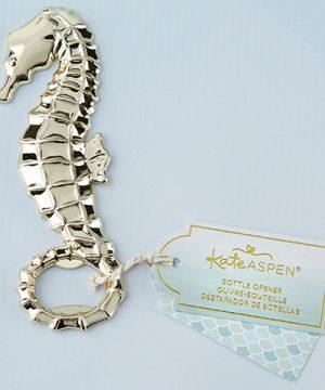 Gold Seahorse Bottle Opener