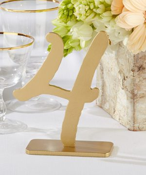 """Good As Gold"" Classic Table Numbers (1-6)"