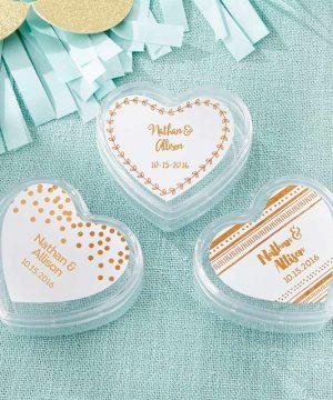 Heart Favor Container - Copper Foil (Set of 12)