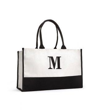 Initial Tote Bag
