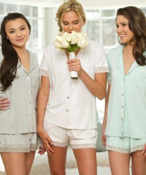 Jersey Lace Pajama Set