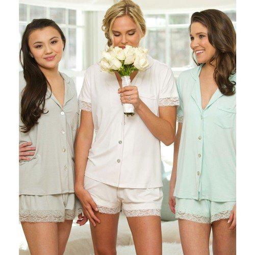 Jersey Lace Pajama Set