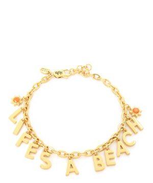 Juicy Couture | Gold Life's A Beach Charm Bracelet