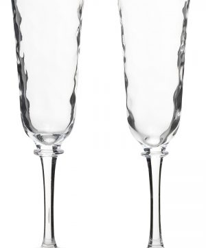 Juliska Carine Set Of 2 Champagne Flutes, Size One Size - White