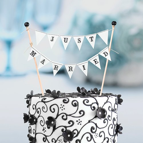 """""""Just Married"""" Cake Topper"""