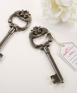 """Key to My Heart"" Antique Silver Bottle Opener"