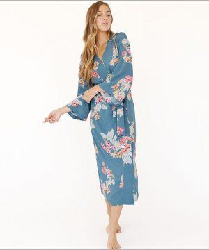 Kimono Style Robe. Ankle Length. Boheme