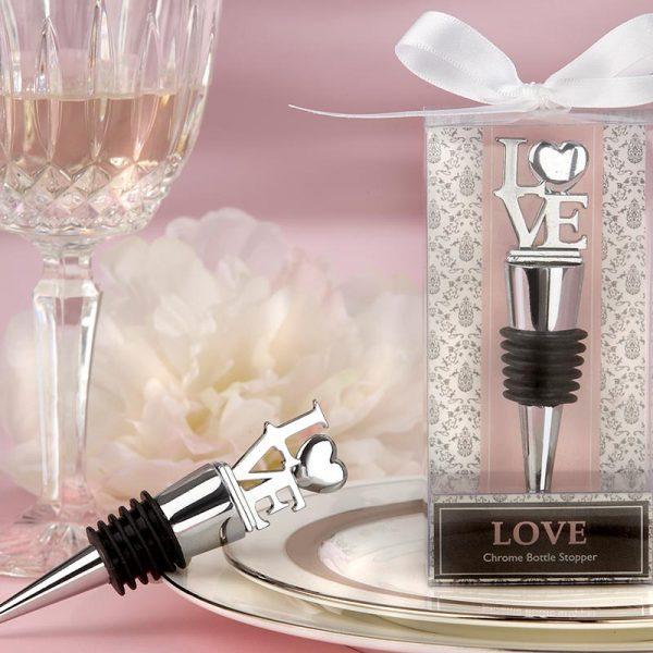 """""""LOVE"""" Chrome Bottle Stopper"""