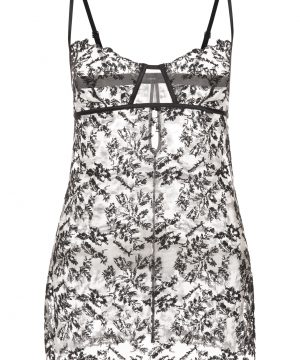 La Perla - Autografo Embroidered Tulle Babydoll Lingerie For Women - Size XS - Black