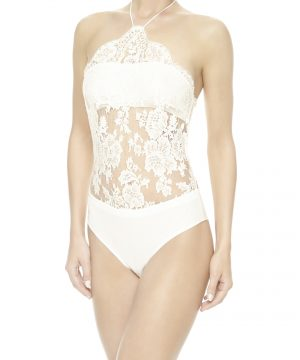 La Perla - Freesia Bodysuit Lingerie For Women - Size S - Natural