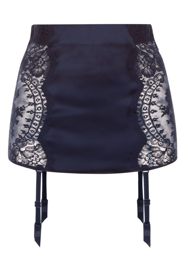 La Perla - Freesia Garter Belt For Women - Size M - Dark Blue