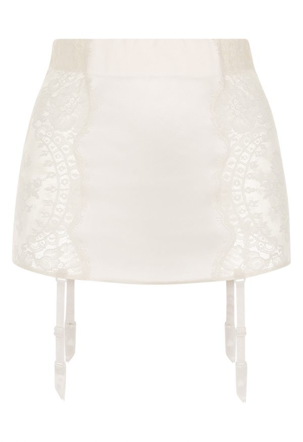 La Perla - Freesia Garter Belt For Women - Size XS - Natural