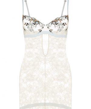 La Perla - Hampton Court Off-White Underwired Lingerie Slip In Embroidered Leavers Lace For Women - Size 32 B